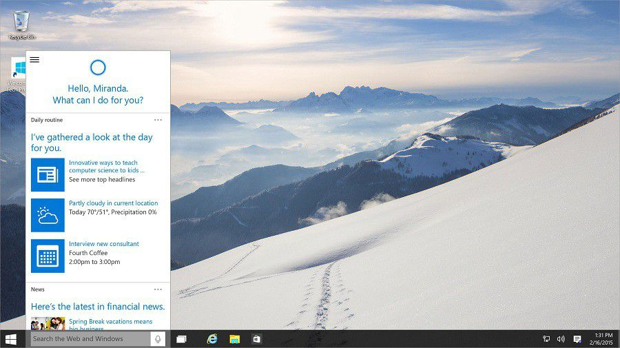 Windows 10 screen2