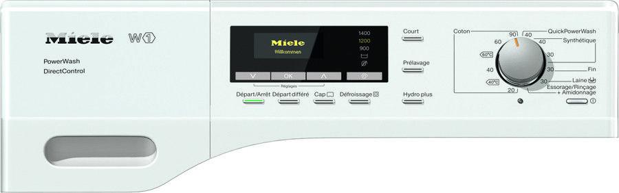 Miele, bandeau de commande du lave-linge WKK 210 WPS (machine à laver le linge)