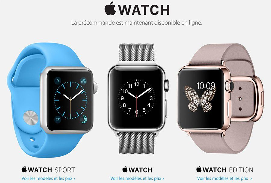 apple watch pré-commande
