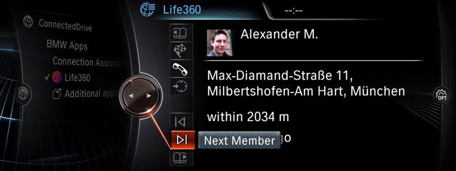 BMW ConnectedDrive : Life360, réseau social des amis et de