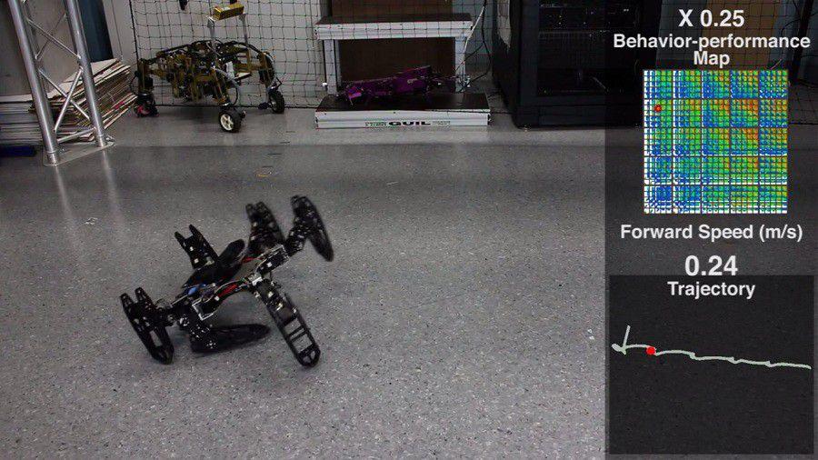 Robot damaged