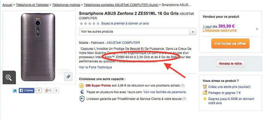 Asus zenfone 2 ze551ml probleme arnaque version 4