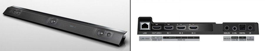 barre de son Sony HT-RT5, haut-parleurs et connectique
