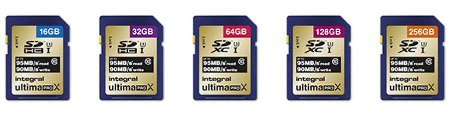 cartes SD Integral Ultima Pro X 95/90 Mb/s C10 UHS-I U3