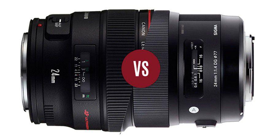 Duel sigma A vs Canon L