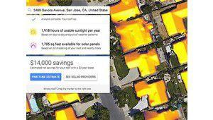 Sunroof: Google affiche le potentiel en énergie solaire de votre toit