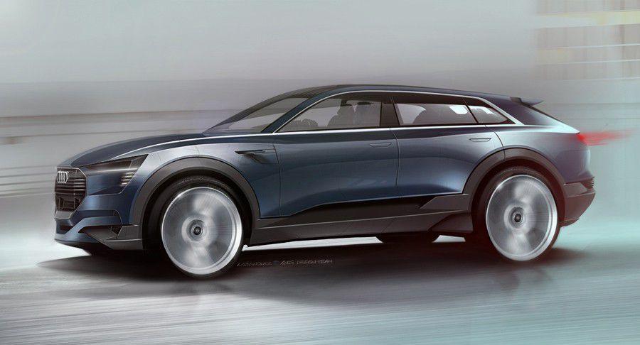 Audi Q6 e-tron concept-car vue generale, visuel constructeur
