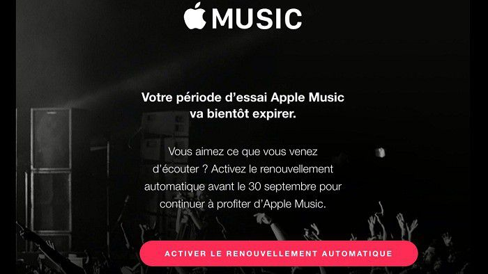 Apple Music fin essai