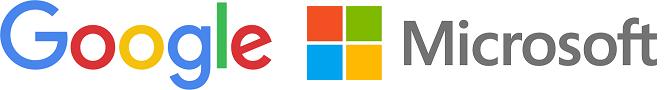 Google Microsoft logos