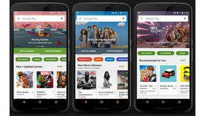 Google Play Store fait peau neuve, avec une ergonomie simplifiée