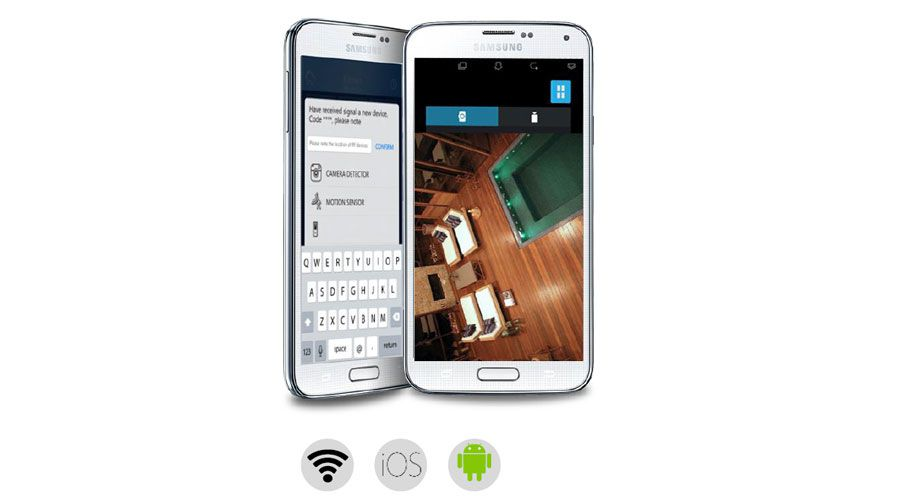 Bell and Wyson ConnectLed BWPix, envoi d'une notification photo sur smartphone