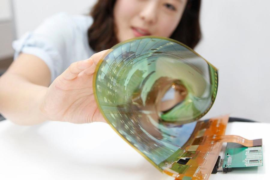 Lg rollable oled display flexible rollable