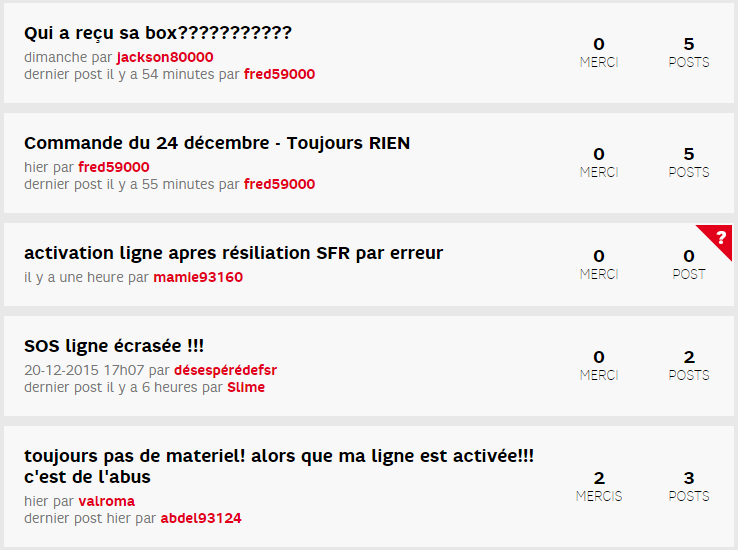 SFR forum