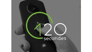 120 secondes pour un tour à 360° avec la Ricoh Theta S