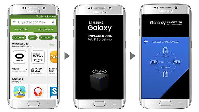 Samsung presentation mwc 2016 galaxy s7 edge application unpacked 360 view 1