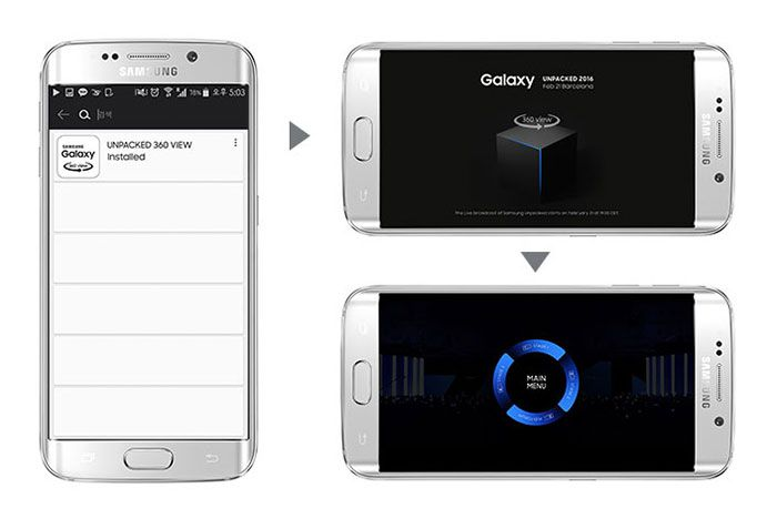 Samsung presentation mwc 2016 galaxy s7 edge application unpacked 360 view 2
