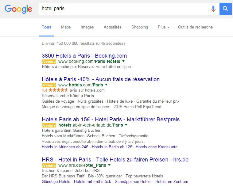 4 annonces Google