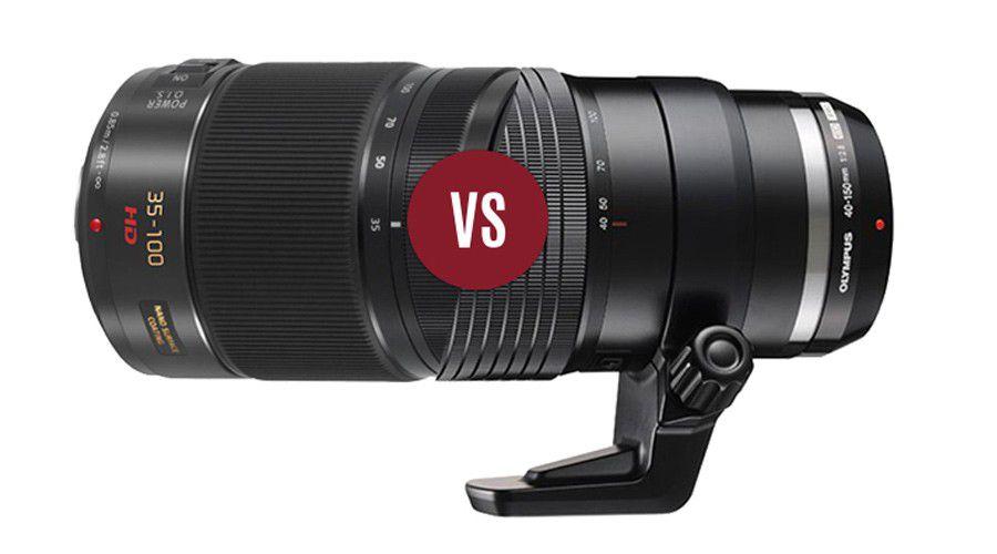 Duel 35 100mm f28 panasonic vs 40 150mm f28 olympus focus numerique
