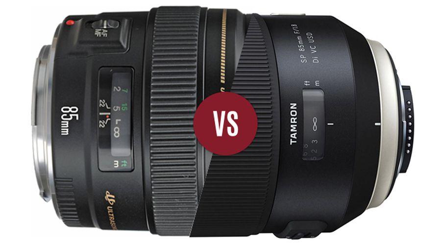 Duel 85mmf18 tamron vs canon