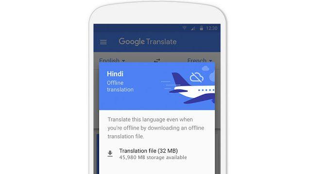 Google Traduction pack langue