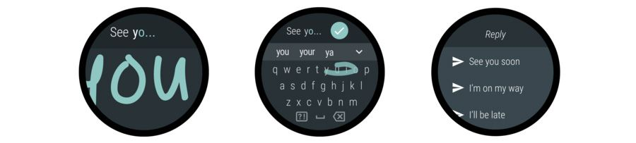 Android wear clavier