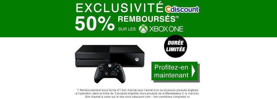 Xbox One Cdiscount 50%25