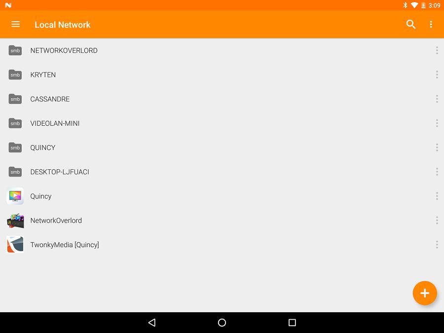 VLC Nexus 9   Network