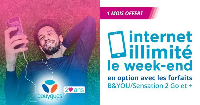 Bouygues option internet illimit%C3%A9 week end