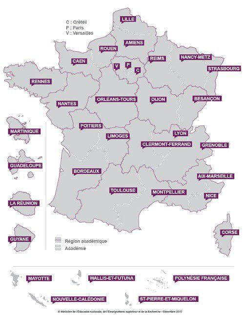Carte France academies500