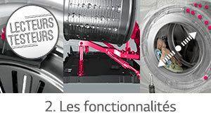 Lecteurs-testeurs lave-linge LG Centum System: les fonctionnalités