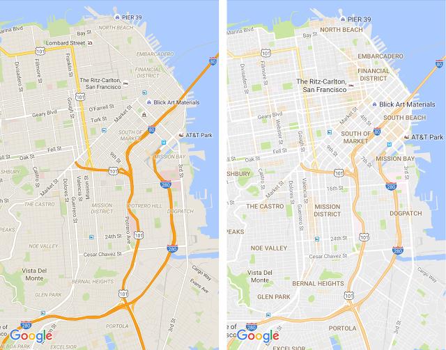 Google Maps lifting