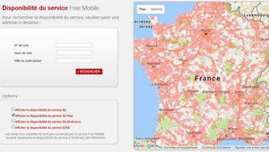Free: la carte de couverture indique les futures zones bridées
