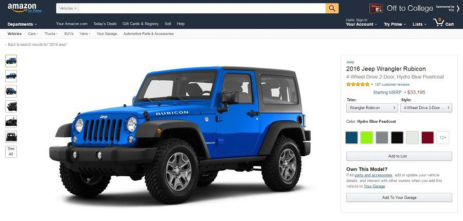 Amazon Vehicles   Jeep Wrangler   Desktop