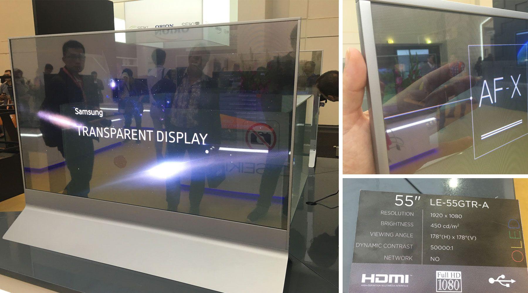 Ifa 2016 un tv transparent de 55 d s 25 000 euros for Ecran pc lesnumeriques