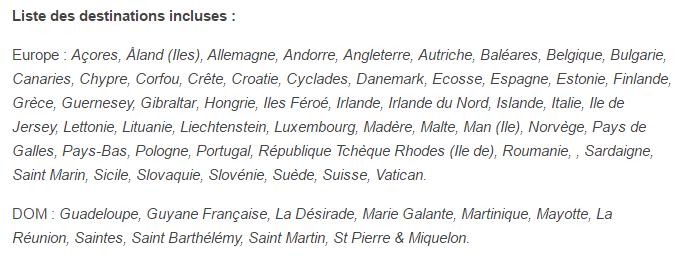 RED 3Go Europe DOM destinations
