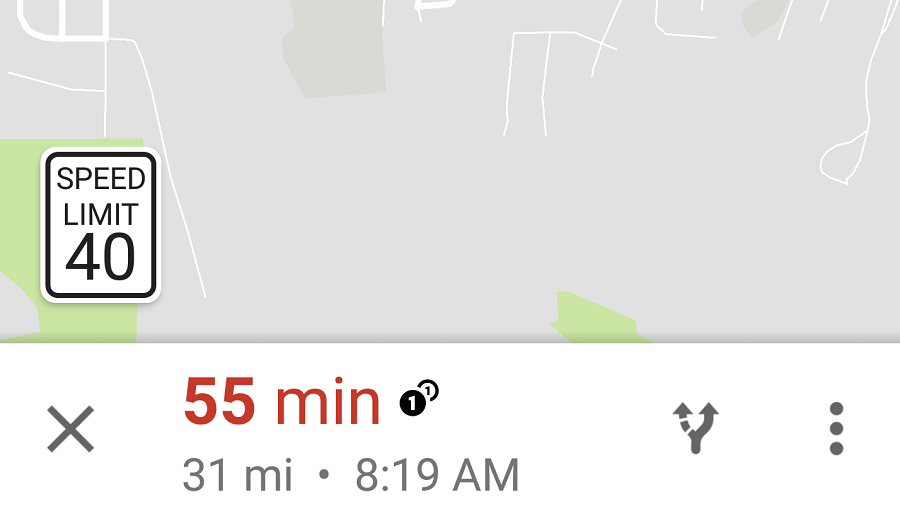 Google Maps limitations de vitesse