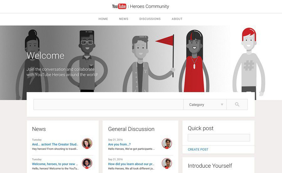 YouTube Heroes site