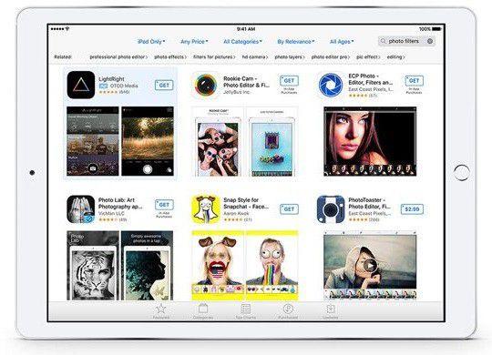 App Store pub tablette