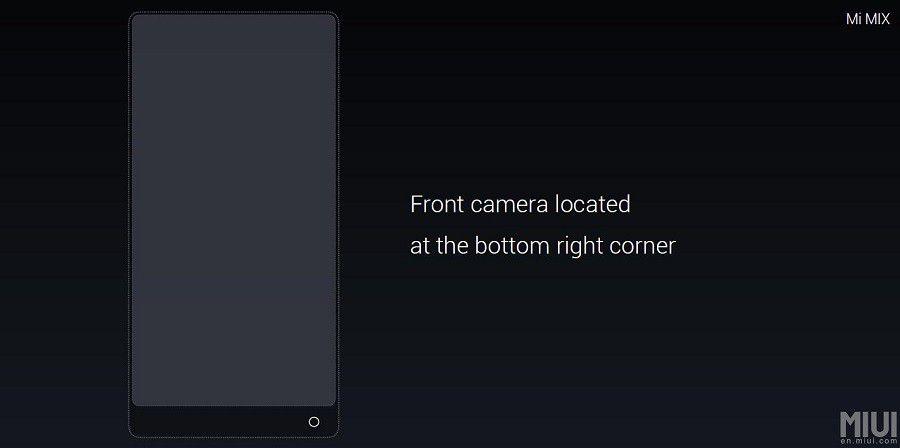 Xiaomi MIX front camera