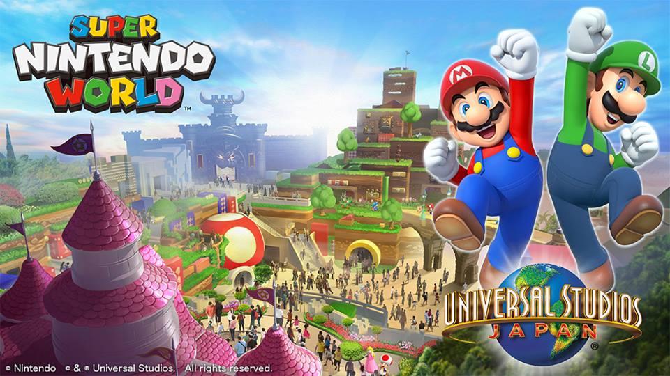 Super Nintendo World banner