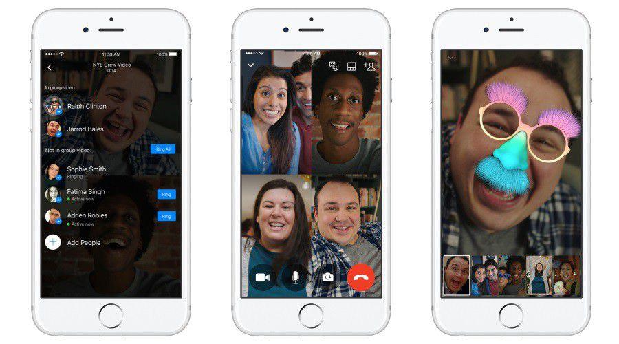 Messenger videochat groupes