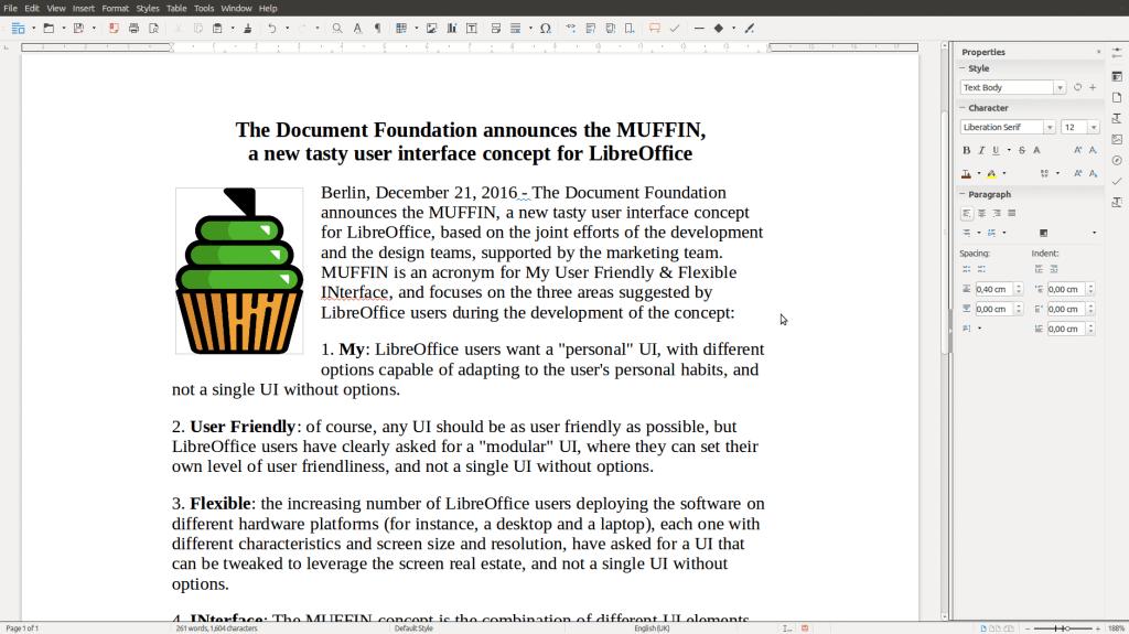 LibreOfficeDev Writer Sidebar
