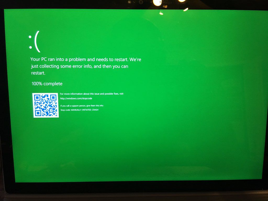Green Screen of Death