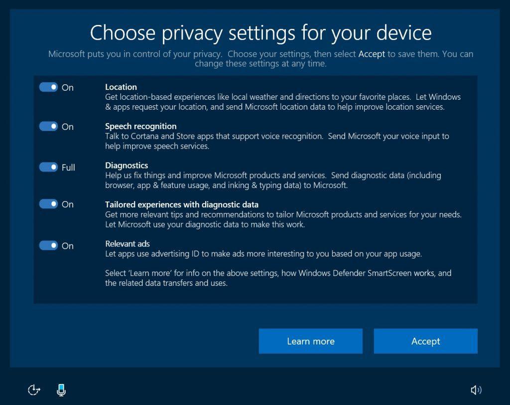 Windows 10 parametres telemetrie on