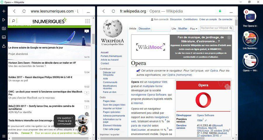 Opera Neon tabs