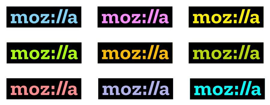Mozilla logo 2017 colors