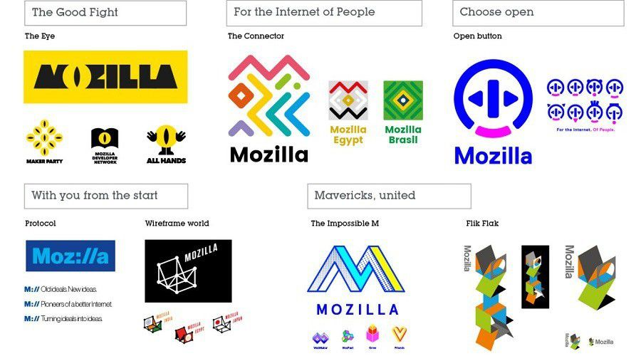 Mozilla logo concepts
