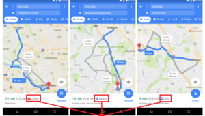 Google Maps indique les chances de trouver une place de parking