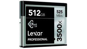 Lexar Professional 3500x CFast 2.0512 Go: 3,78€ le Go pour filmer