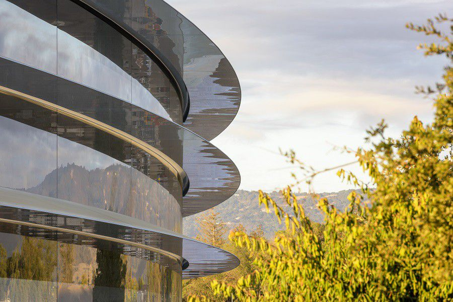 Apple park photo 1 building trees